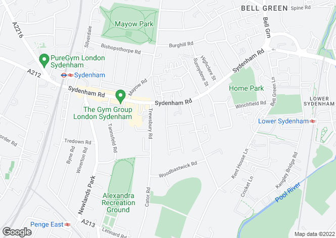 Map for Knighton Park Road, London SE26