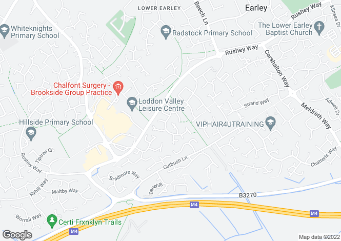 Map for Faygate Way, Lower Earley