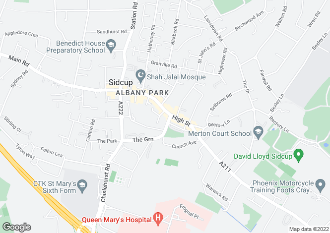 Map for Sidcup High Street, Sidcup, Kent, DA14
