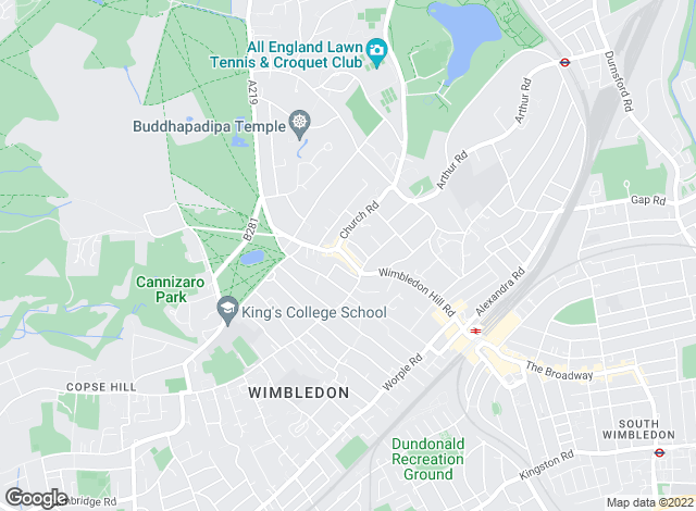 Map for Knight Frank, Wimbledon