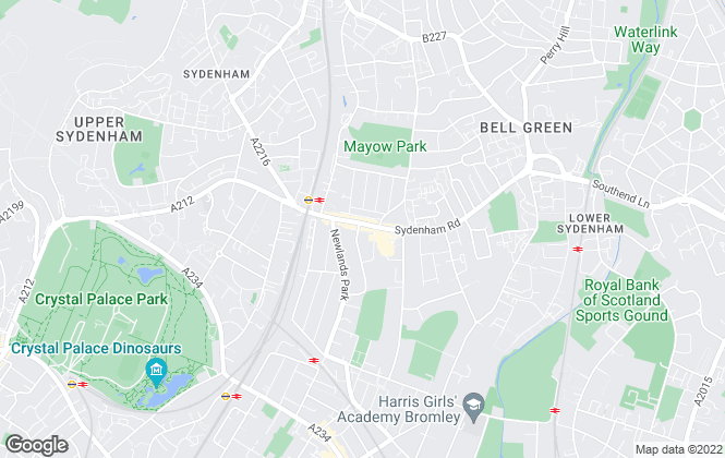 Map for CKB Estate Agents, Sydenham