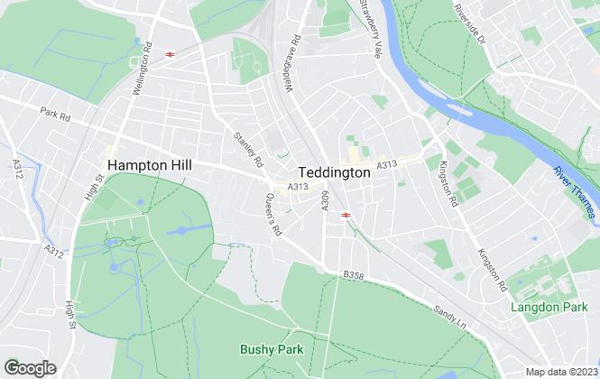 Map for Websters Estate Agents, Teddington