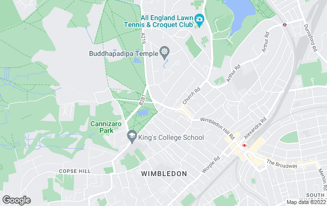 Map for Hamptons International Sales, Wimbledon