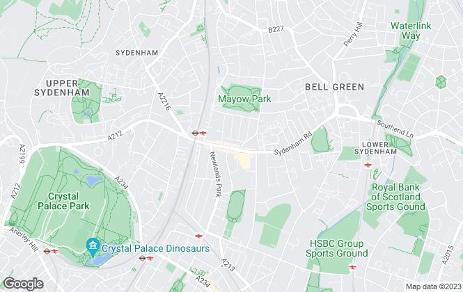 Map for Mann Lettings, Sydenham