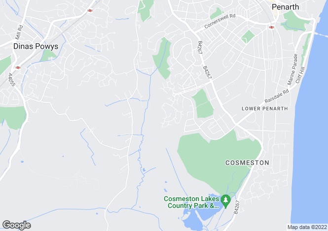 Map for Cae Canol, Caversham Park, Penarth