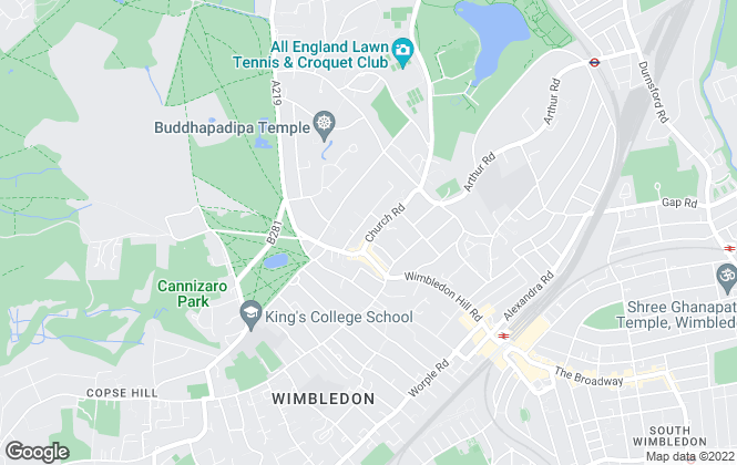 Map for Jackson-Stops & Staff , London, Wimbledon