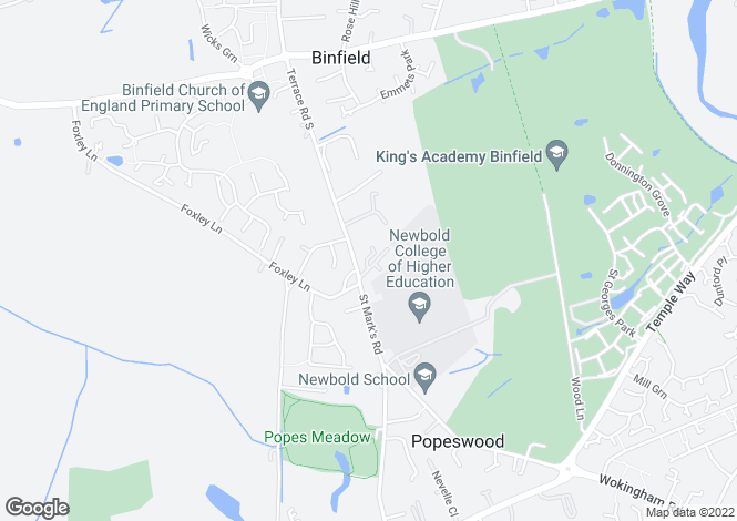 Map for BINFIELD