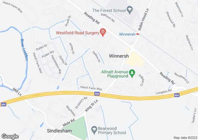Map for Russell Way, Winnersh, Wokingham, RG41