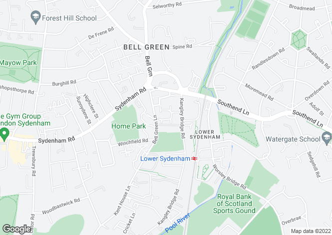 Map for Ridgewell Close, Sydenham, SE26