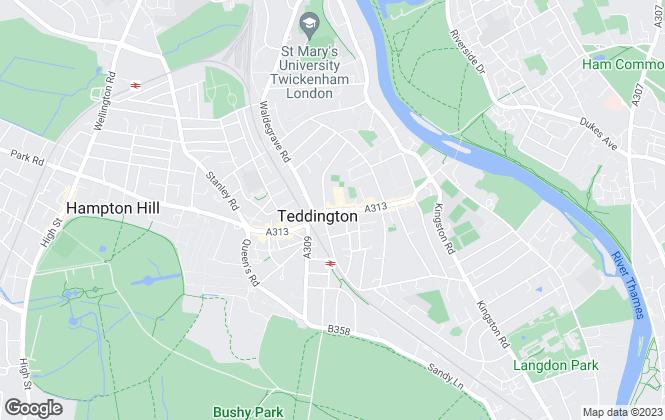 Map for Featherstone Leigh , Teddington