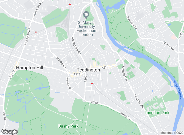 Map for Featherstone Leigh , Teddington