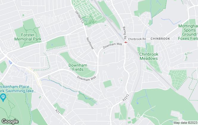Map for De Scotia, Bromley