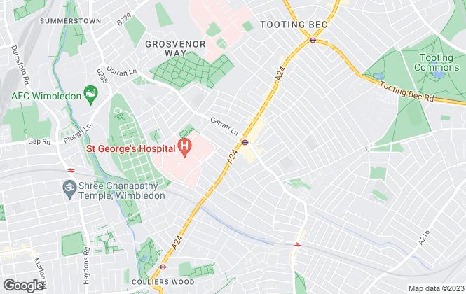 Map for Kinleigh Folkard & Hayward - Sales, Tooting