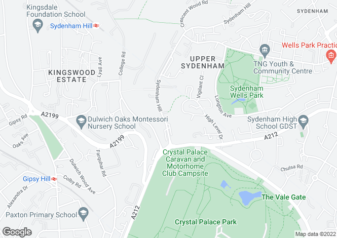 Map for Bluebell Close, Sydenham Hill,