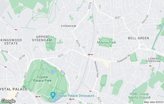 Map for Robinson Jackson, Sydenham