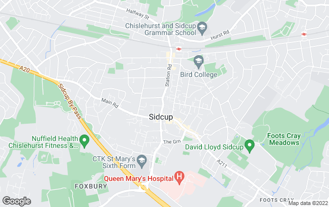Map for James Gorey Estate Agents, Sidcup