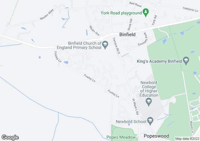 Map for Binfield, RG42