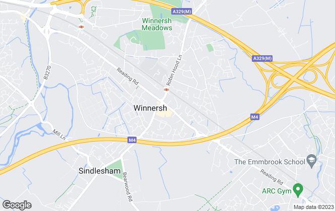 Map for Prospect Estate Agency, Winnersh