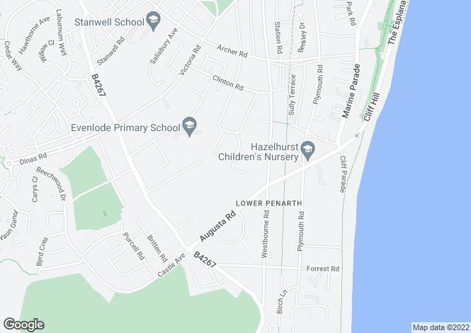 Map for Robinswood Close, Penarth