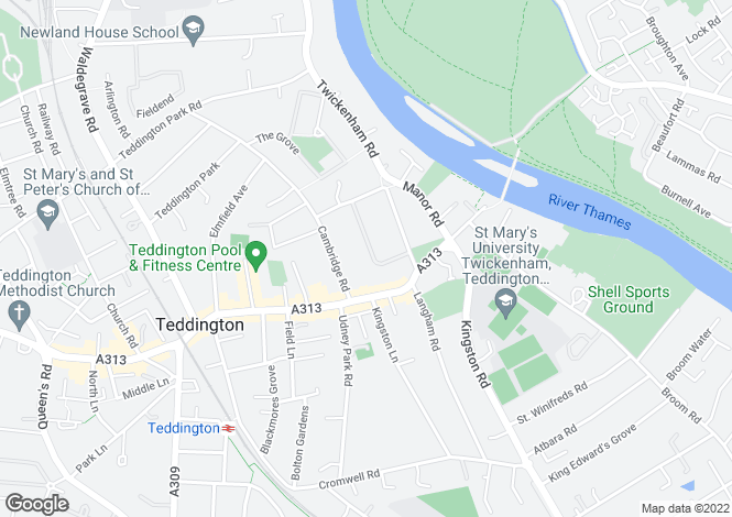 Map for TEDDINGTON