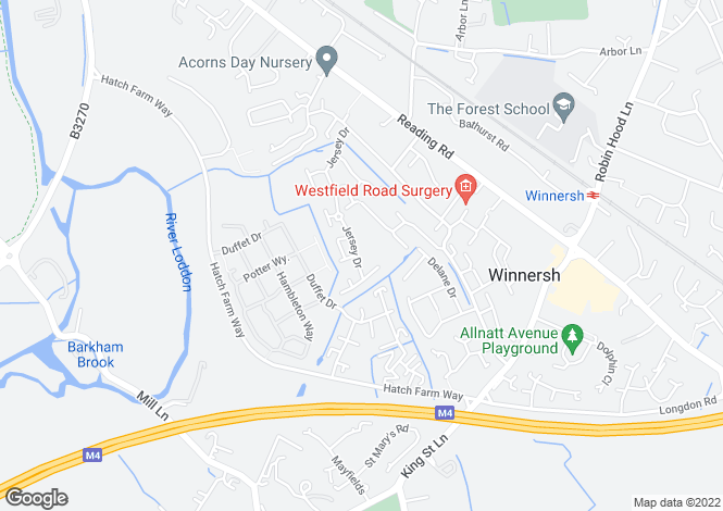 Map for Jersey Drive, Winnersh, RG41
