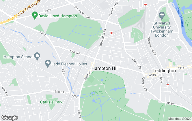 Map for YOUR MOVE, Hampton Hill