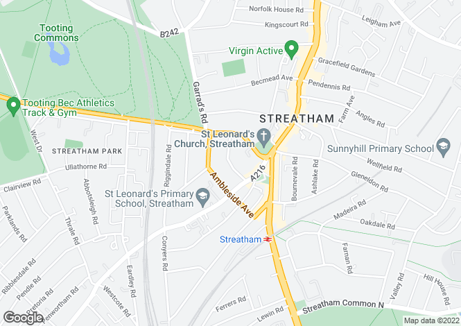 Map for 35 Fernwood Avenue, Streatham, London, SW16