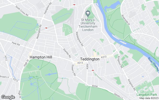 Map for Lloyds Residential, Teddington