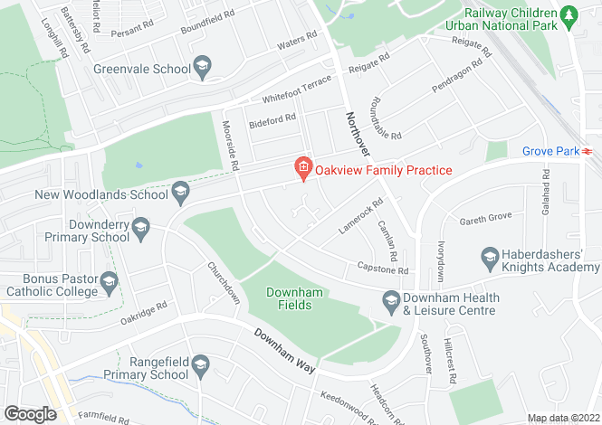 Map for Gittens Close Downham BR1