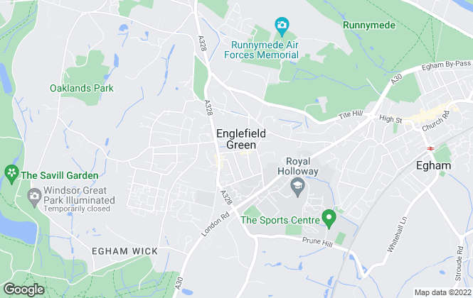 Map for Foxley & Fitch, Egham
