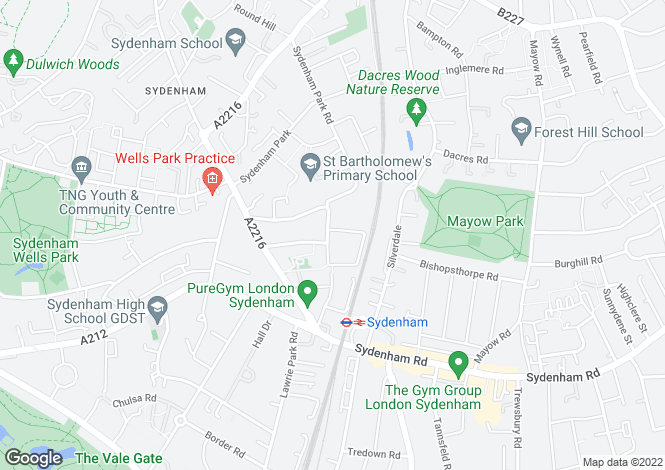 Map for Peak Hill, Peak Hill, Upper Sydenham