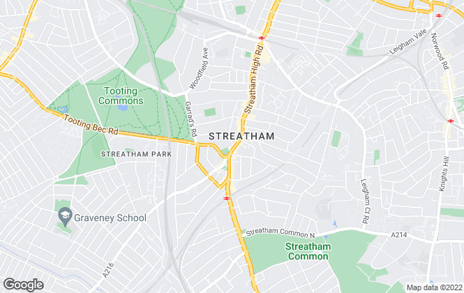 Map for Andrews Estate Agents, Streatham