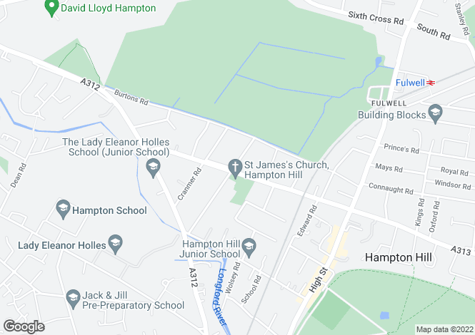 Map for Park Road, Hampton Hill, Hampton, TW12