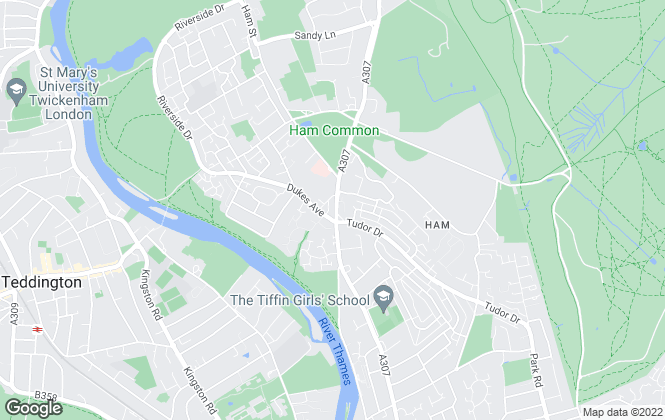 Map for Gibson Lane, Ham