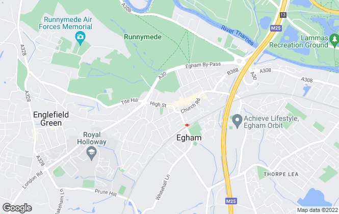 Map for Townends, Egham - Lettings