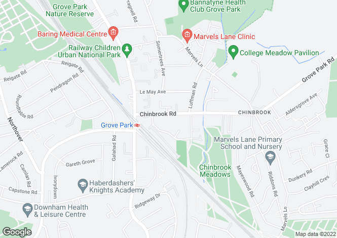 Map for Chinbrook Road, Grove Park, London, SE12