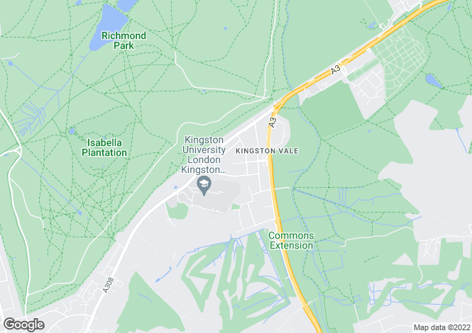 Map for Grasmere Avenue, Kingston Vale