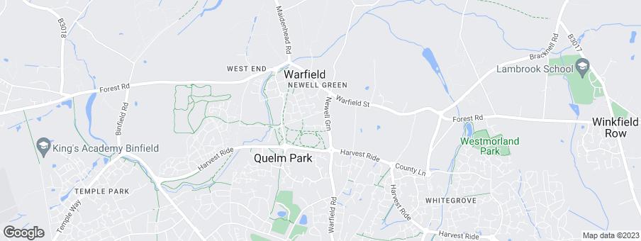 Map for Linden Homes Thames Valley