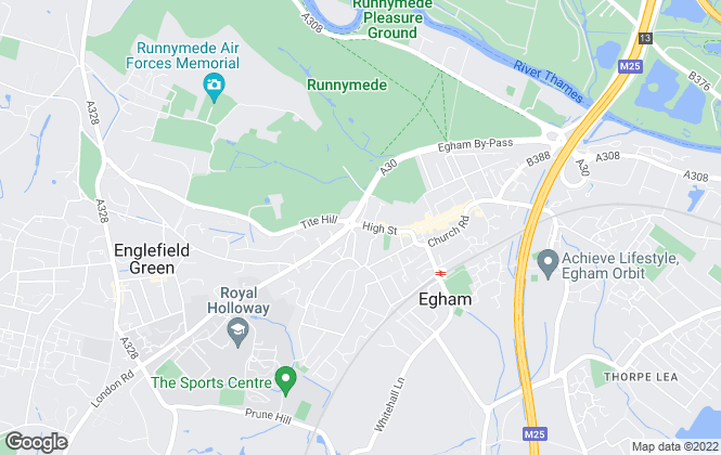 Map for Alpha Residential, Egham
