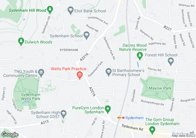 Map for Sydenham Park, London, SE26
