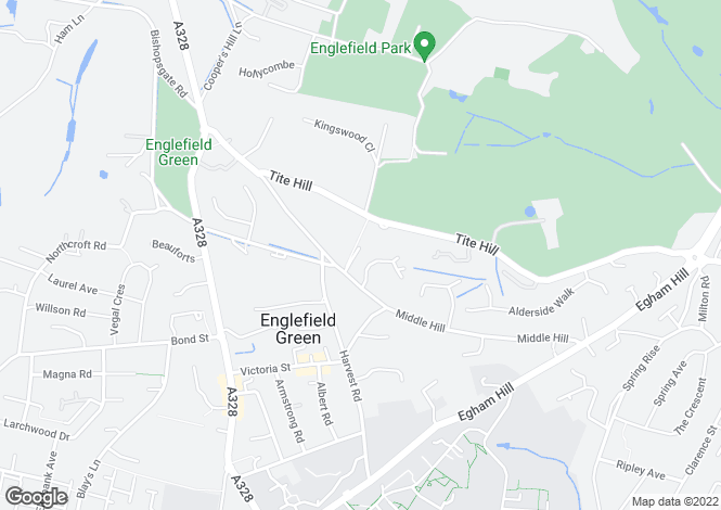 Map for Middle Hill, Engelfield Green, Egham