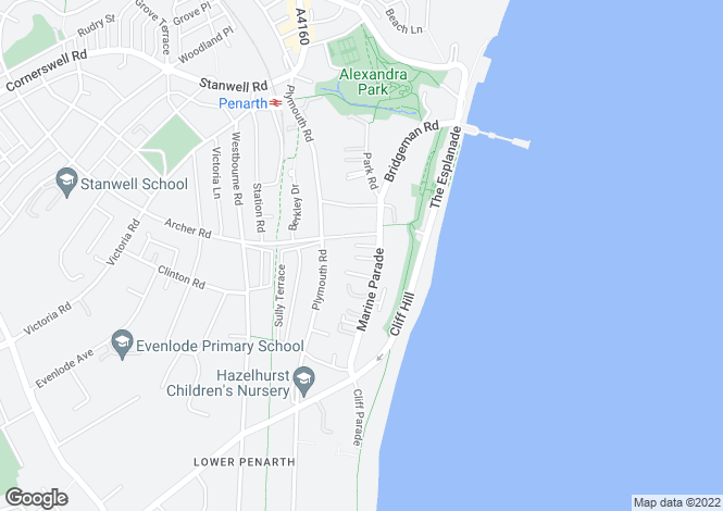 Map for PENARTH, Marine Parade