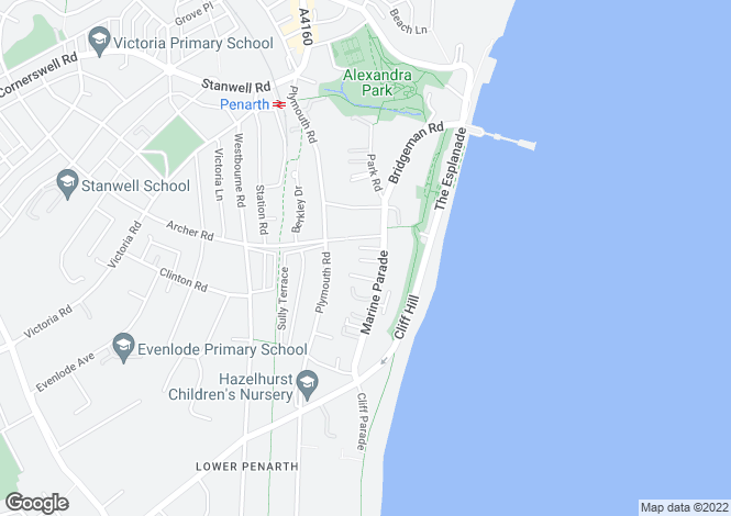Map for Marine Parade, Penarth, Vale Of Glamorgan, CF64 3BE