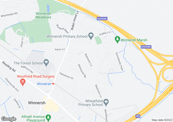Map for Watmore Lane, Winnersh, RG41