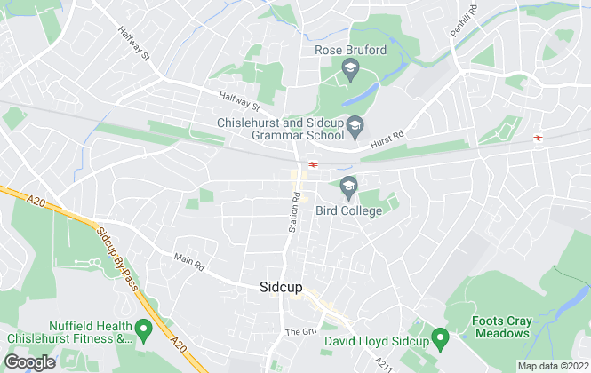 Map for Hewish & Co, Sidcup