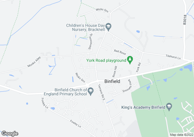 Map for Terrace Road North, Binfield, RG42