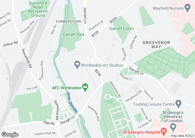 Map for Summerstown Road