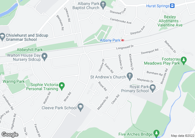 Map for Onslow Drive, Sidcup, DA14 4PB