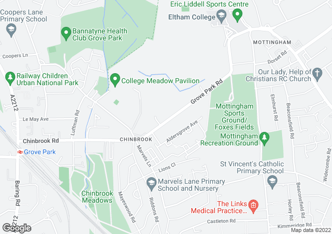 Map for Grove Park Road, Mottingham,m SE9