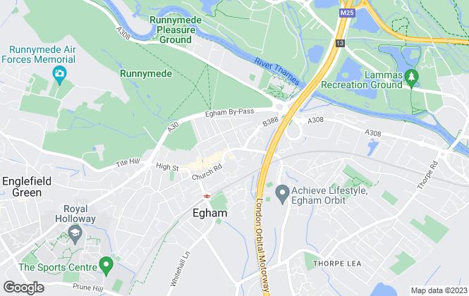 Map for Audley Estates, Egham